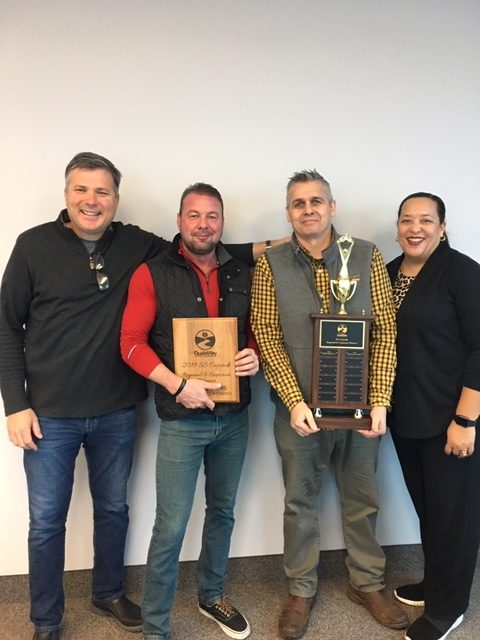 Oakville, Canada Overall Line of Business Winners | (left to right) Scott Harrison, Gabe Jansen, Bill Richards, and Edie Reaves